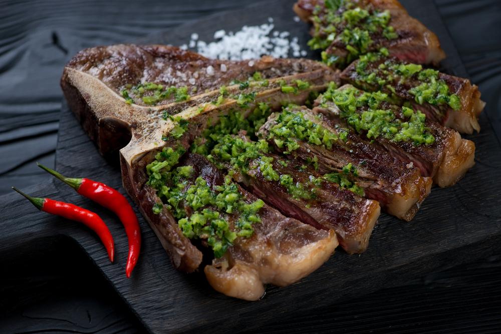 T-Bone Steak with Taste5 Chimichurri - with Taste5 Vegetarian