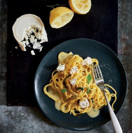 Pasta al Limone - from Laura Santtini's PASTA SECRETSPhoto •Christopher Scholey