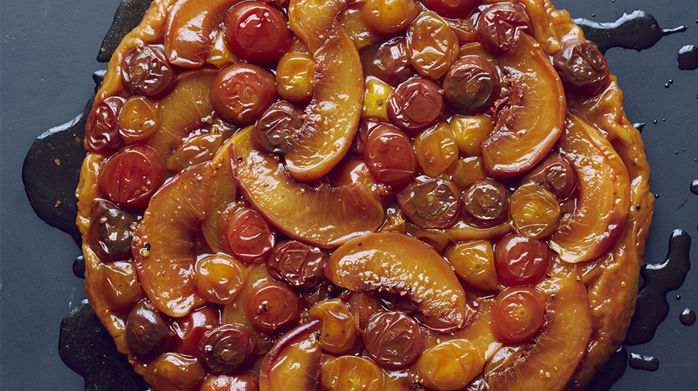 Peach & Tomato Tarte Tatin - from