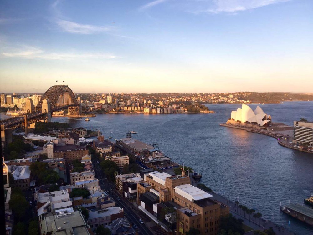 No shot of Sydney's skyline is complete without the  Sydney Harbor Bridge  (left), and the  Sydney Opera House.  Tourists have the option of climbing the bridge, awarded with panoramic and unparalleled views of the city. Harnesses ensure your safety.