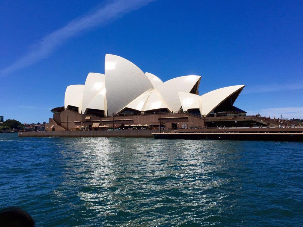 A closer look at Sydney Opera House, which still hosts performances on many nights.