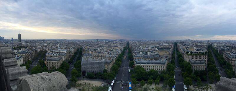 For some reason, observing Paris from this vantage point reminded me of the saying 'every road leads to Rome""