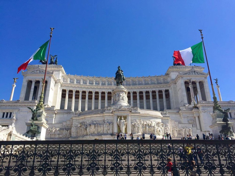 The Altare della Patria is a monument to Italy's first king, Victor Emmanuel, who first unified the nation. Don't let the steps out front fool you, its a bit of a climb.