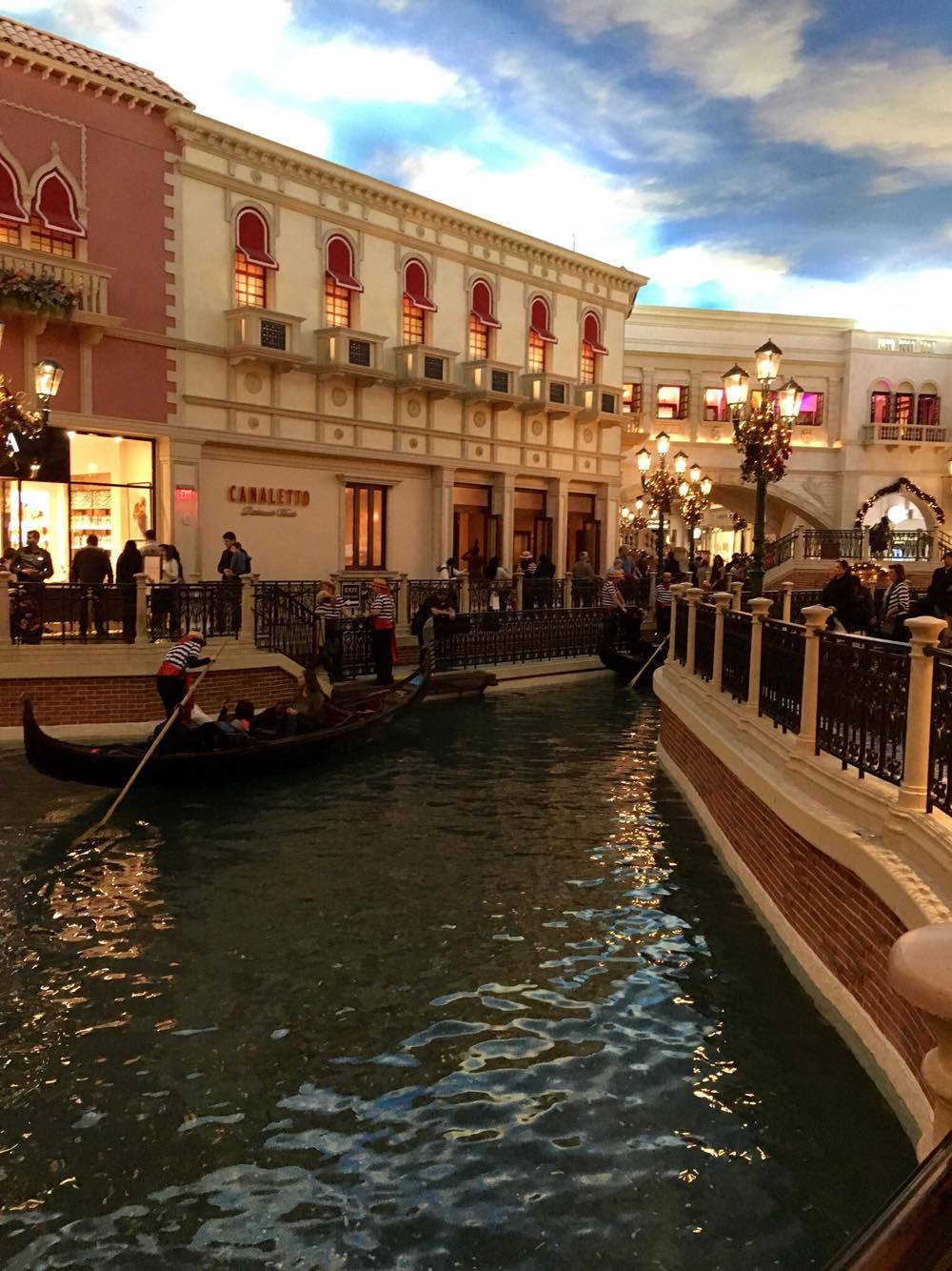 Gondola rides are still available in the Venetian
