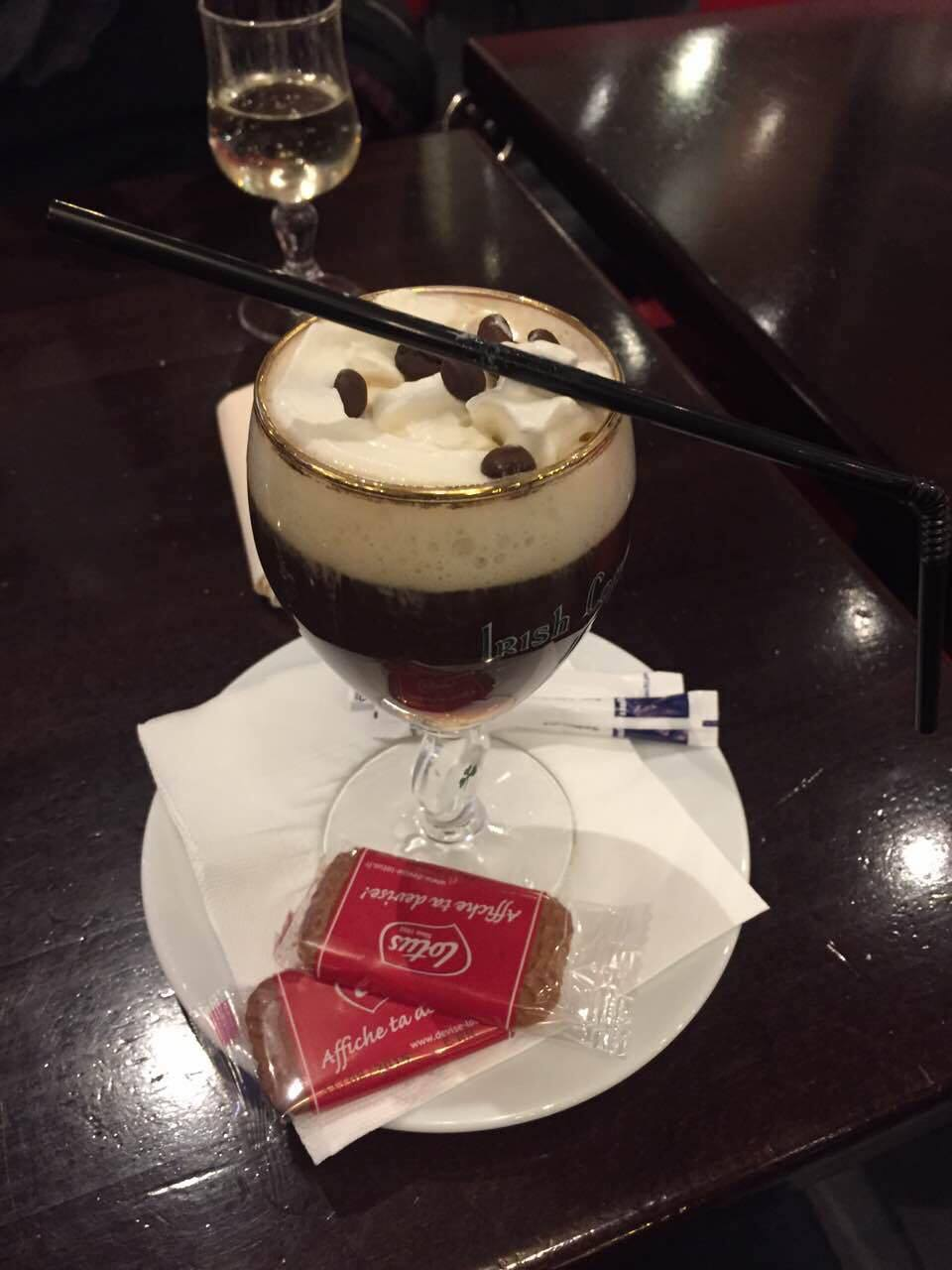 Irish coffee, at a French bistro in Paris