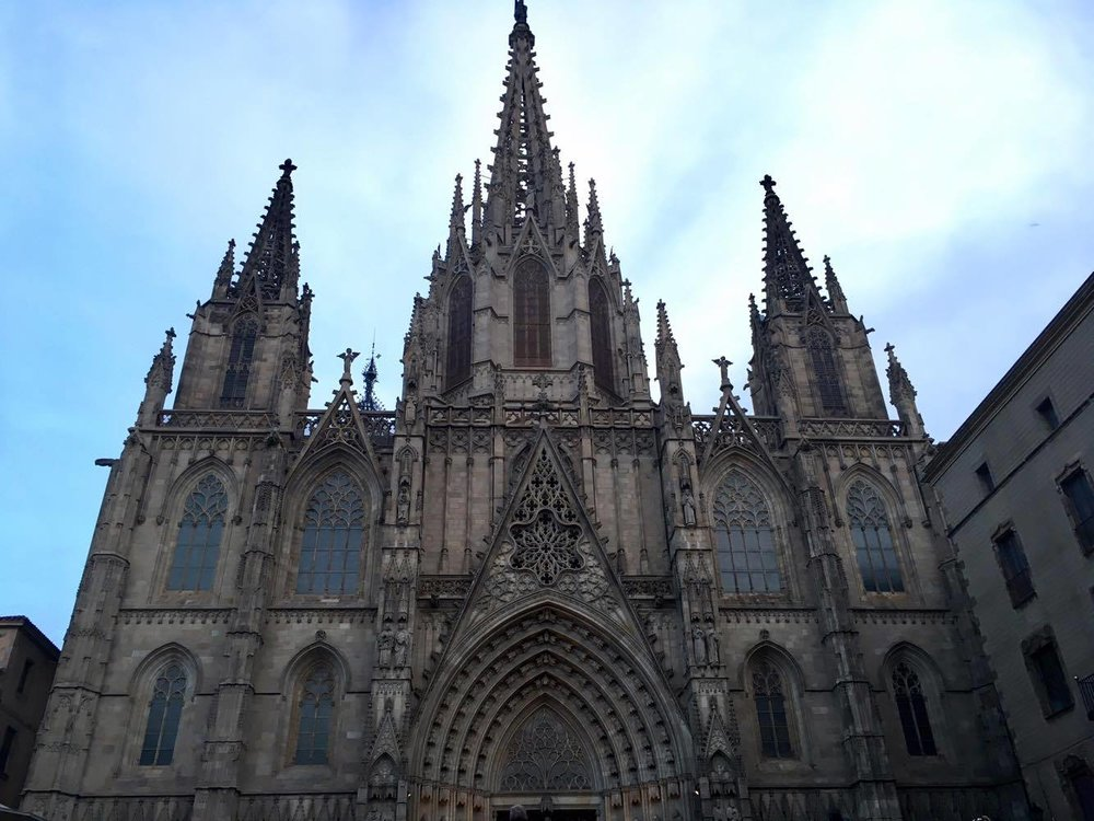 The city's  Catedral de Barcelona , not to be confused with the Sagrada Familia!