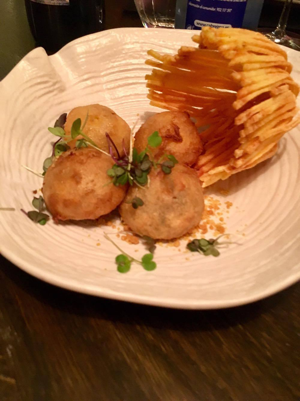 Chef's take on the omnipresent croquetas
