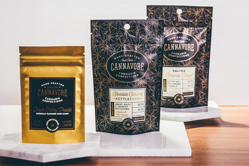 "Cannavore, Edibles Brand - Cannavore creates award-winning, artisan confections that are delicious and properly dosed. Cannavore chefs use small-batch, lab-tested, natural ingredients. Cannavore was recognized for the brand's identity and package design by High Times Magazine in their article ""21 Cannabis Brand To Watch.""Visit Site"