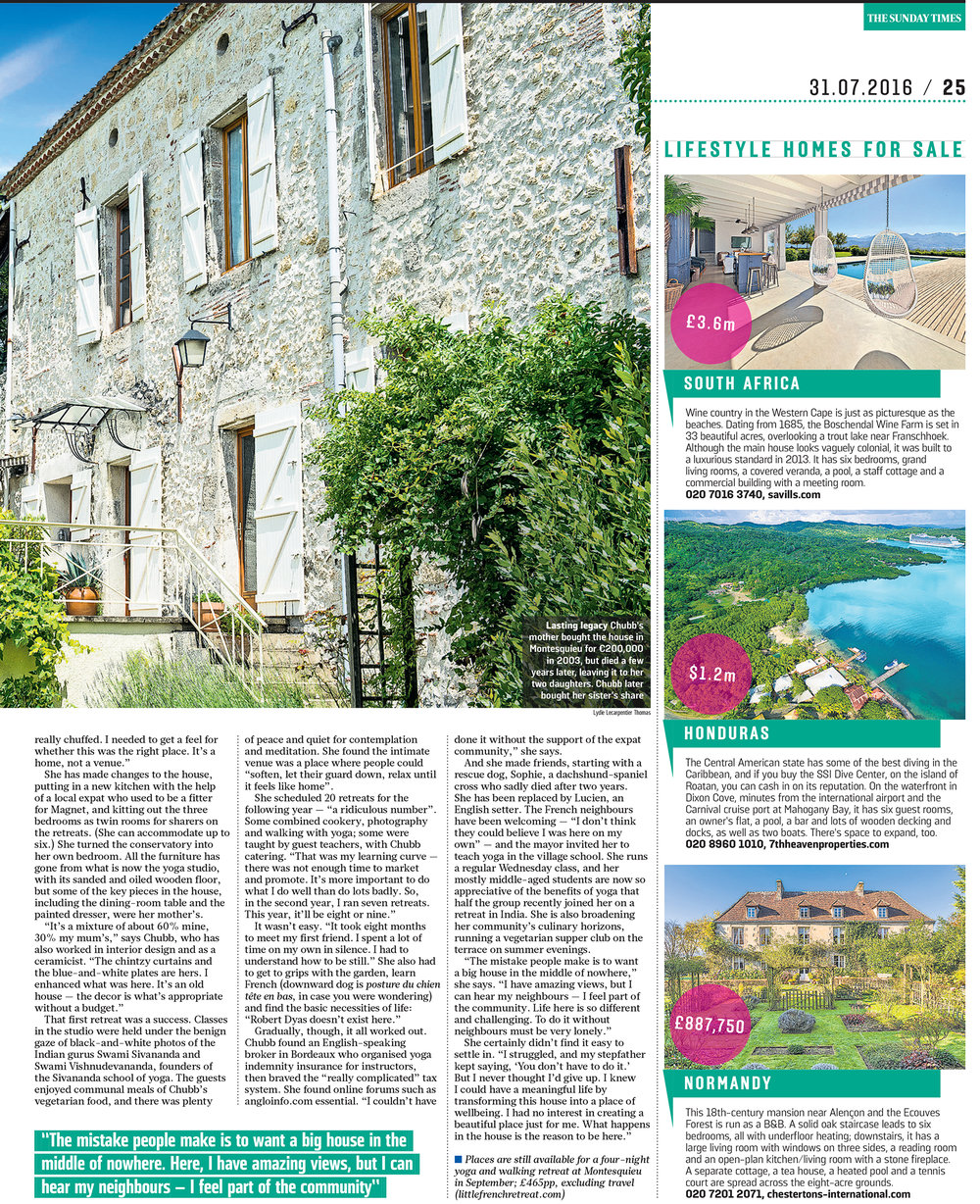 Little French Retreat; Sunday Times Review