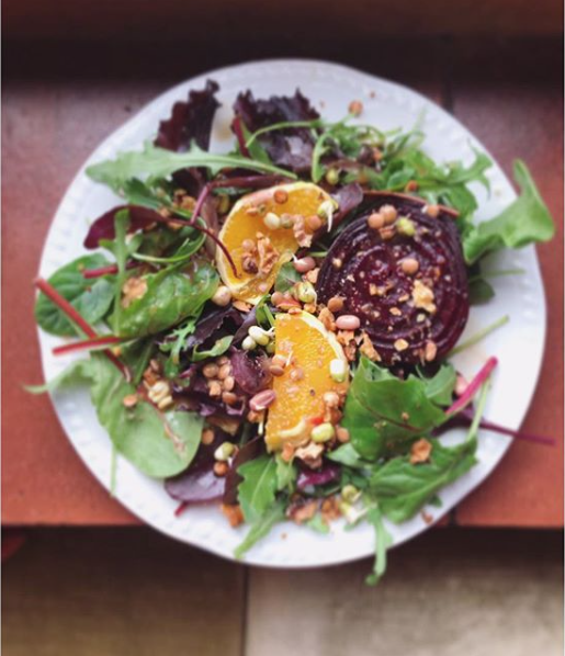 Roasted Beet and orange balsamic dressing