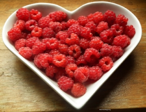 Healthy Fruit Snack Raspberries