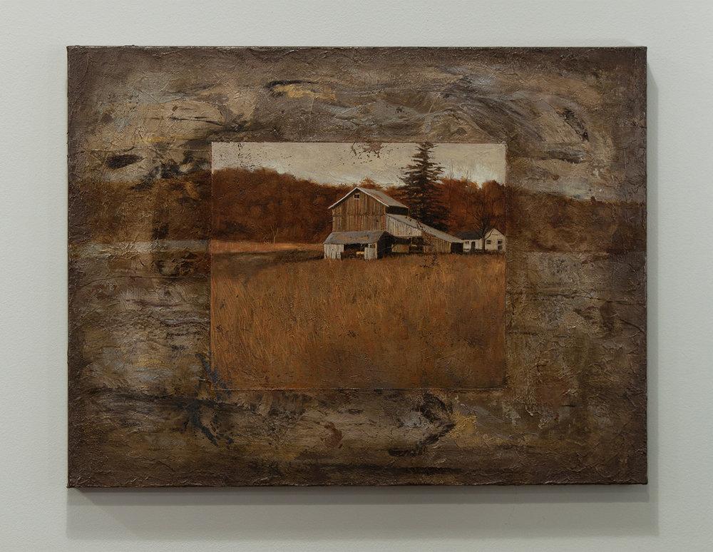 Small Barn / oil, 18 x 24