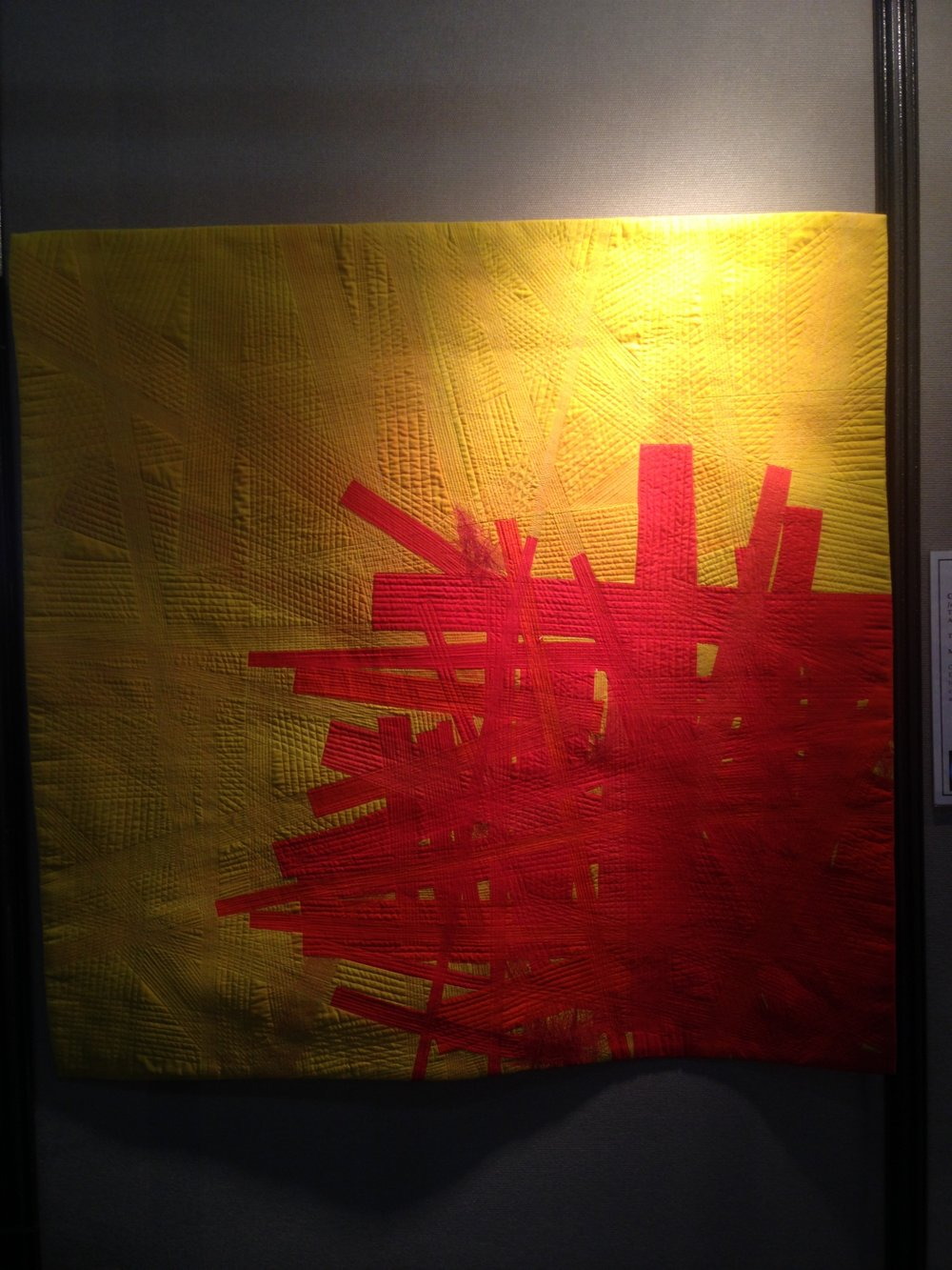 Conflict No. 1 by Judy Kirpich (in the SAQA exhibit)