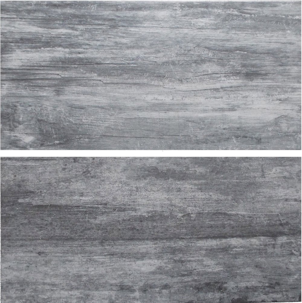 "Dark Grey  12"" x 24"" Porcelain Beige  12"" x 24"" Porcelain  [2 pieces shown]"