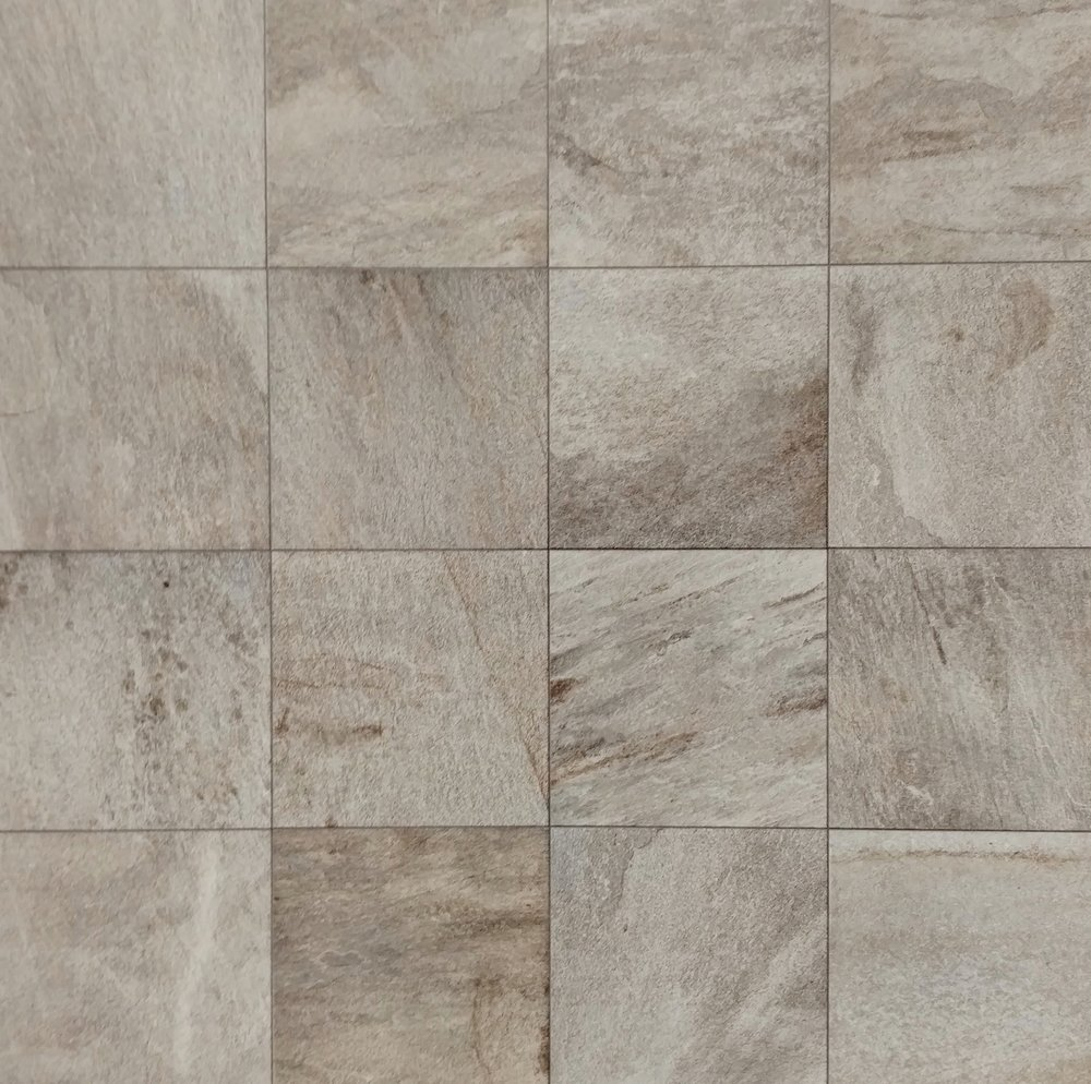 "QuartziteDiBarge  12""x12"" Porcelain (16 pieces shown for variation) Also available in : 6"" x 6"", 12"" x 24"",  18"" x 18"""