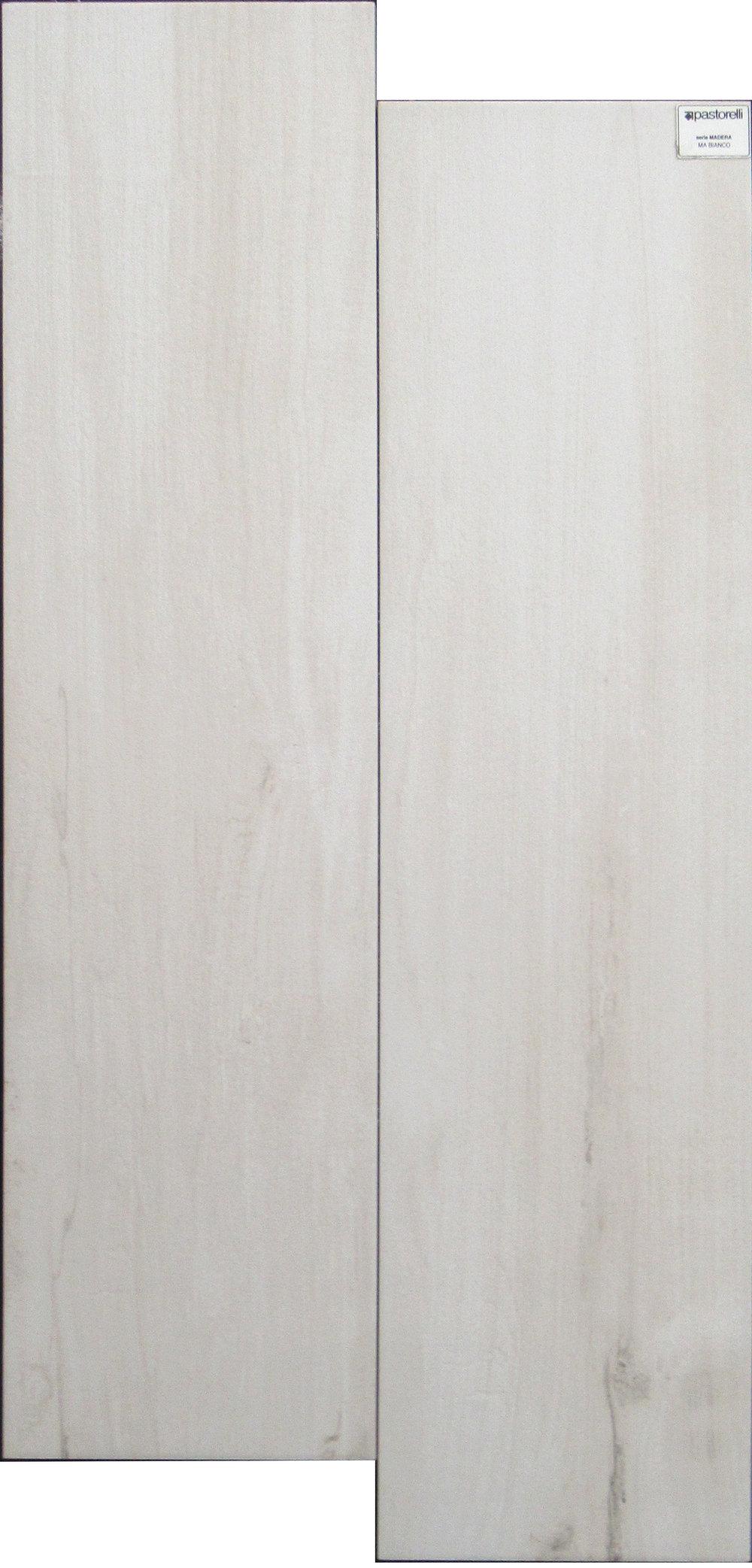 "Bianco - 8"" x 32"" Porcelain (2 pieces shown for variation)"