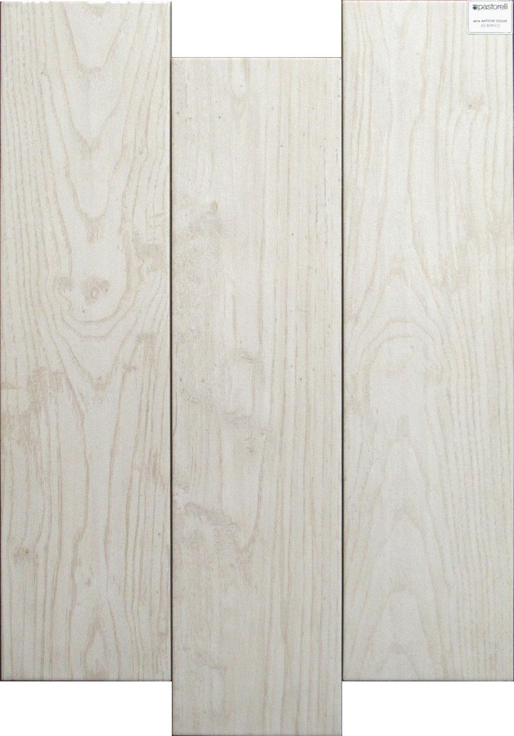 "Bianco  - 6"" x 24"" Porcelain (3 pieces shown for variation)"