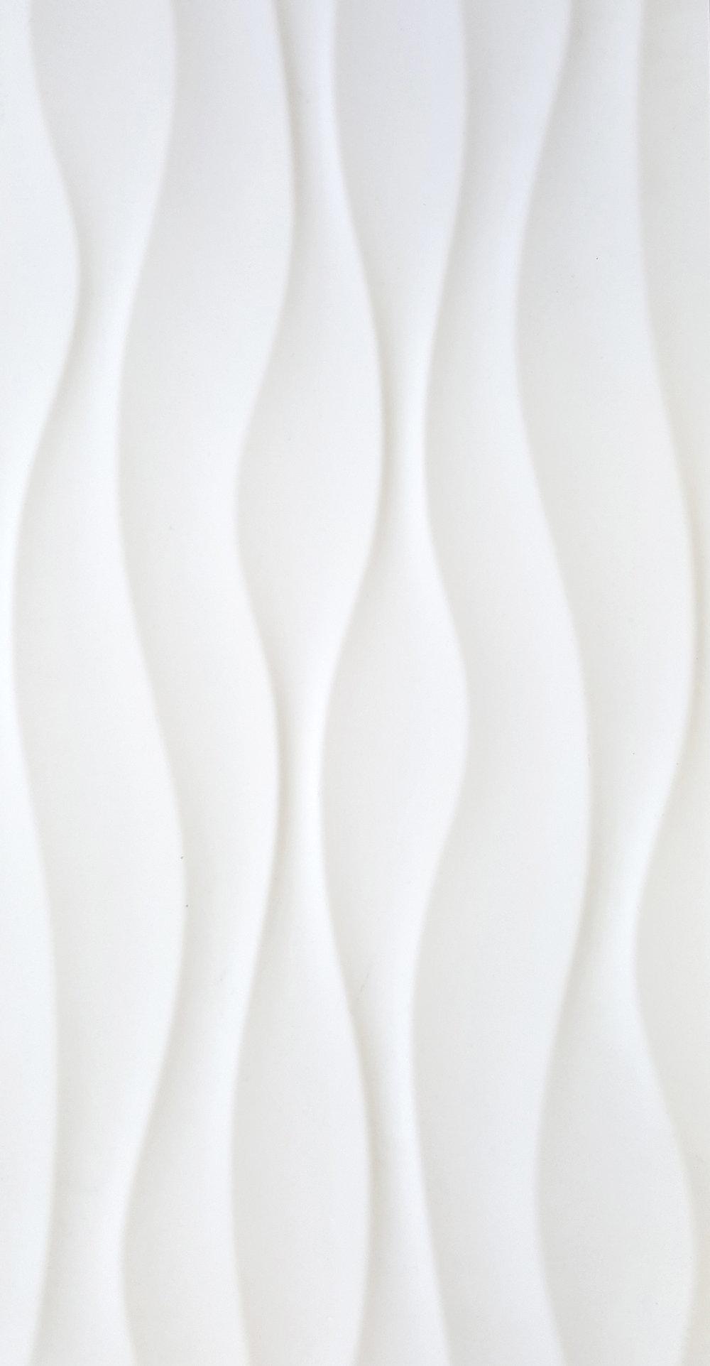 """12"""" x 24"""" Milano White Deco 1"""