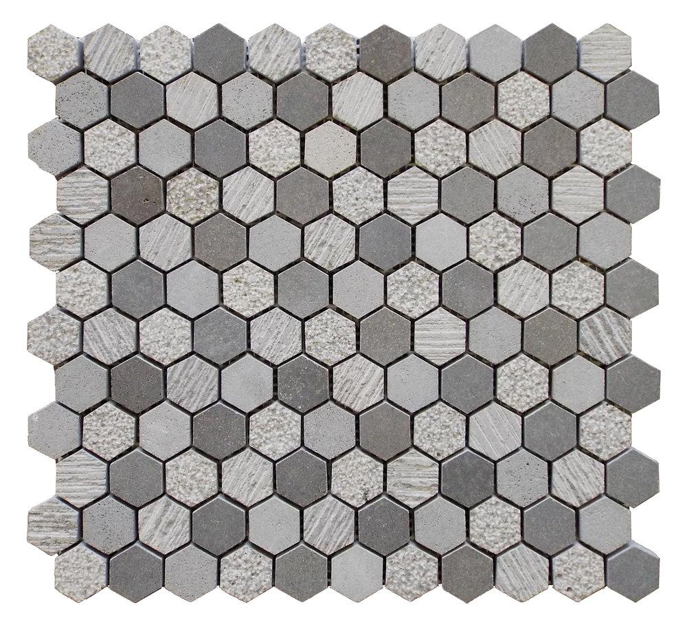 """Basalt - 1"""" Hexagon"""