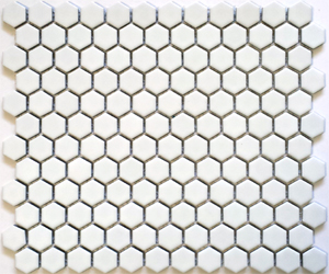 "HEX-1010  Hexagon 1"" Matte White"