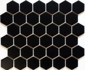 "HEX2-1022  Hexagon 2"" Matte Black"