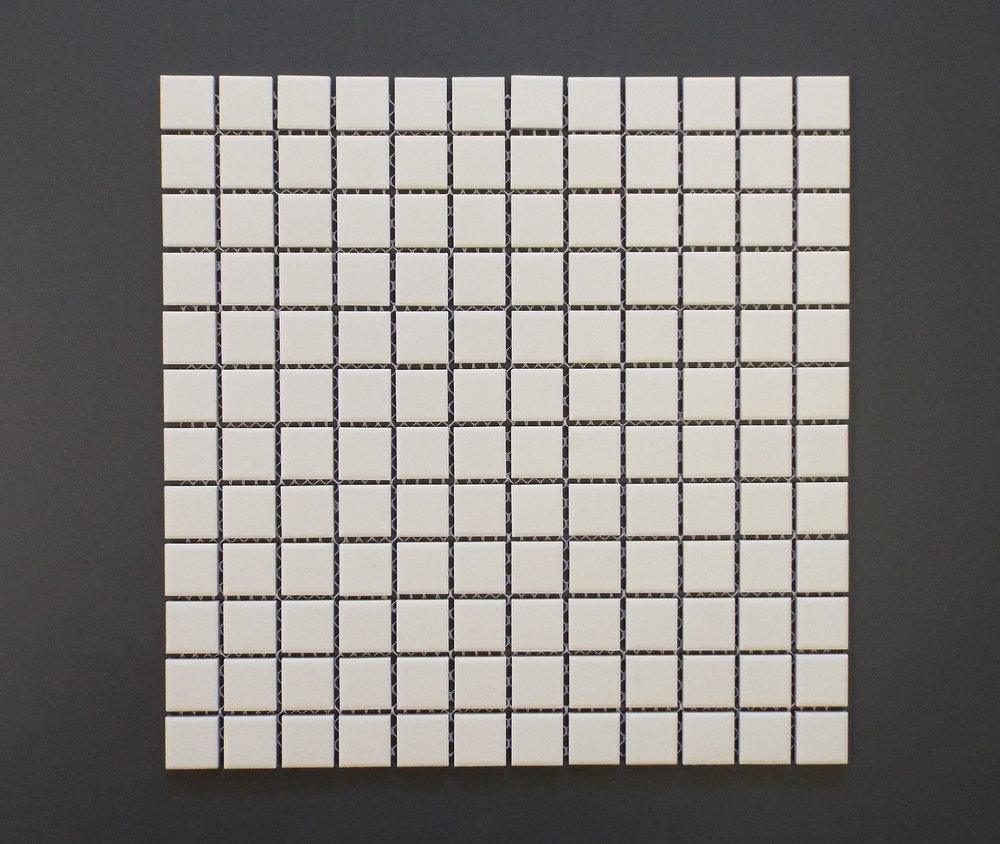 "Unglazed  - White 1"" x 1"""