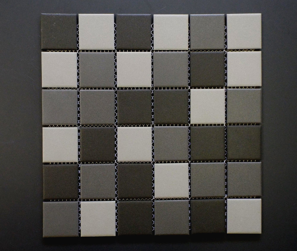 "Unglazed  - 2"" x 2"" Dark Grey Mix"