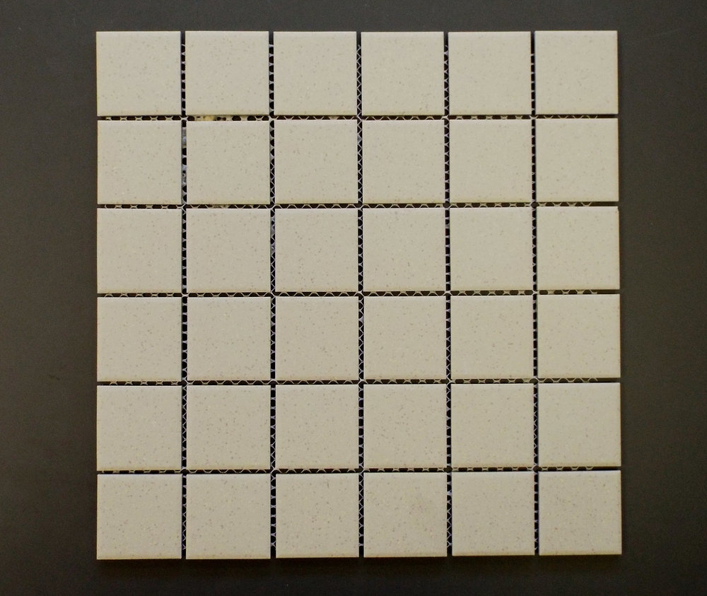 "Unglazed  - 2"" x 2"" Beige Speckled"
