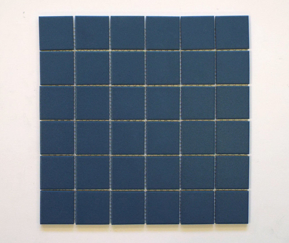 "Unglazed  - 2"" x 2"" Royal Blue"