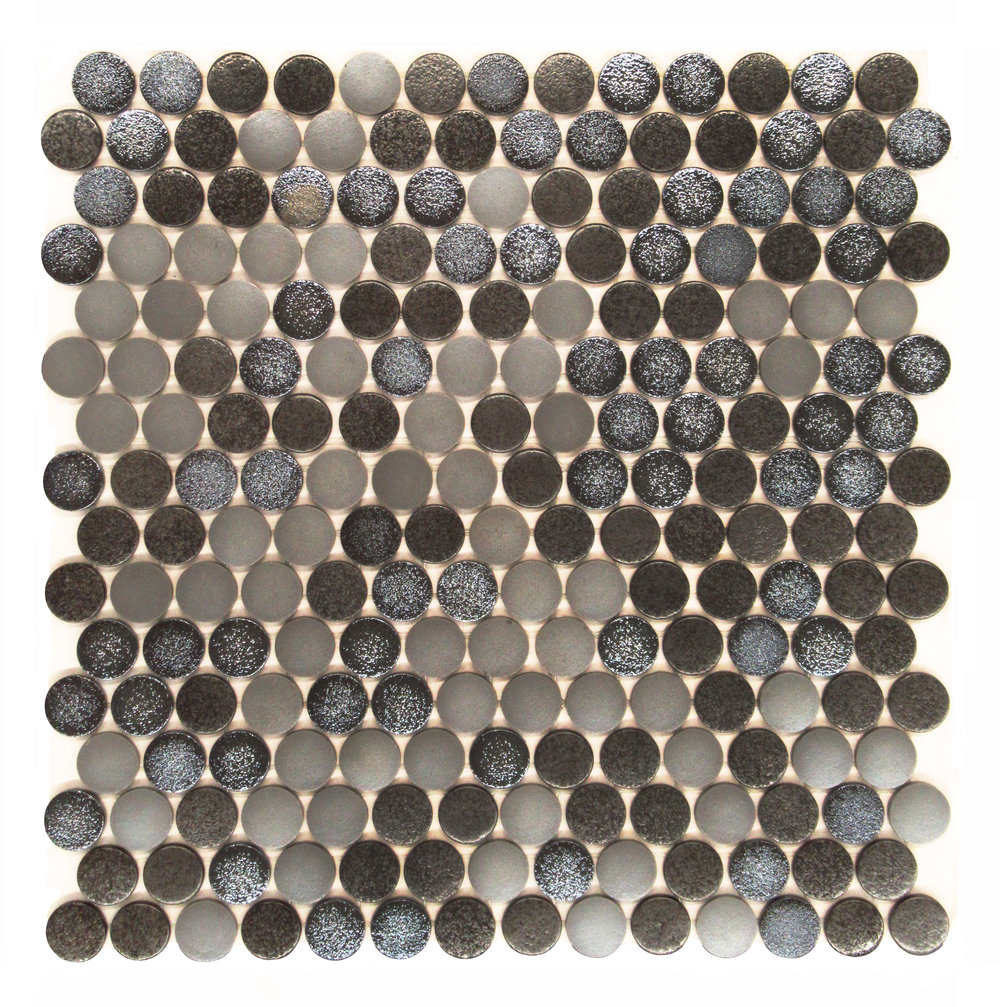 "Ambient #5149  - 1"" Pennyround Glass Mosaic"