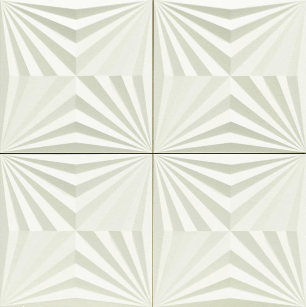 "Optic White  - 17"" x 17"" Porcelain  (shown as one piece)"