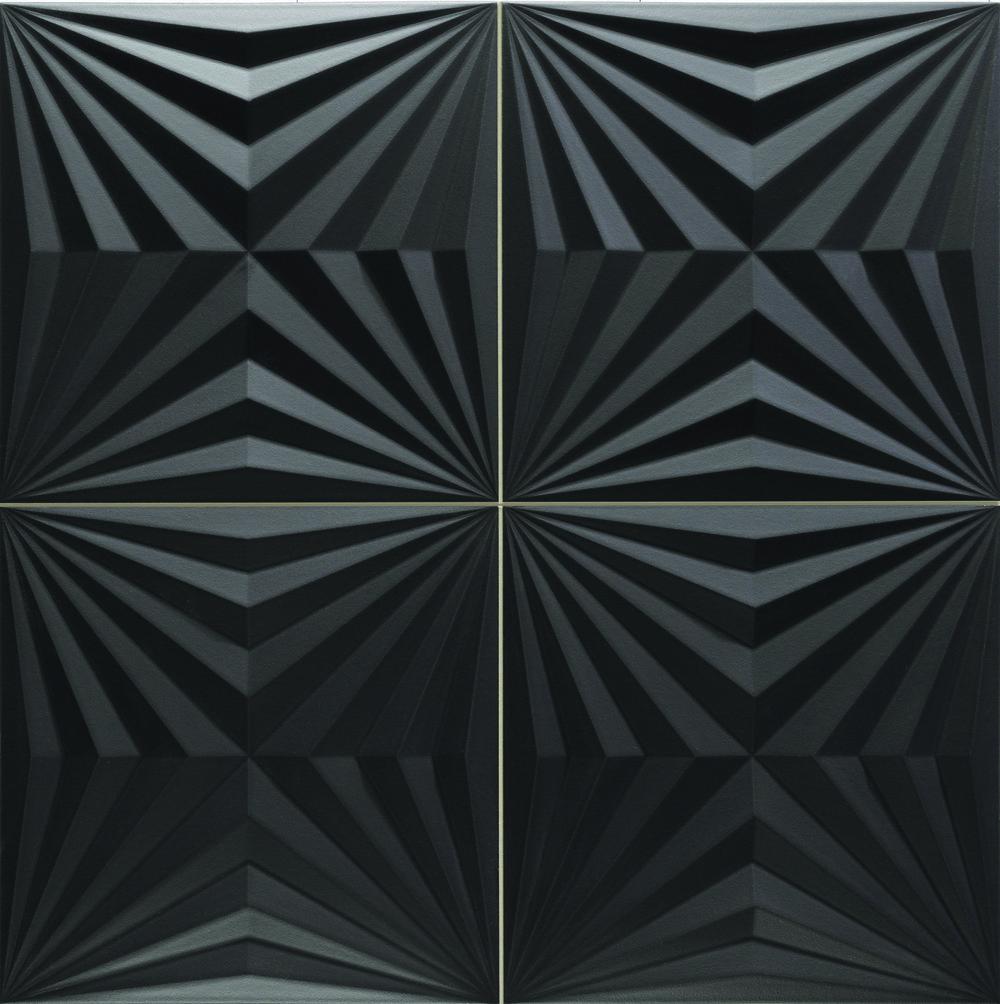 "Optic Black  - 17"" x 17"" Porcelain  (shown as one piece)"