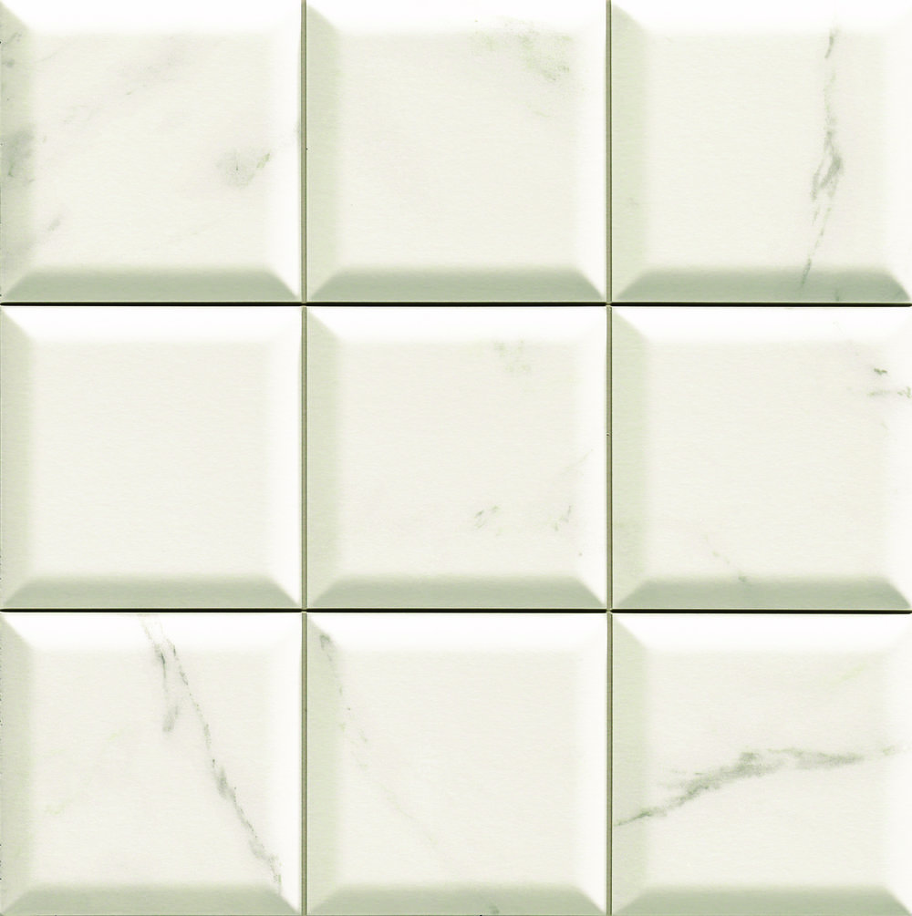 "Bombato Calacatta  - 13"" x 13"" Porcelain (shown as one piece)"