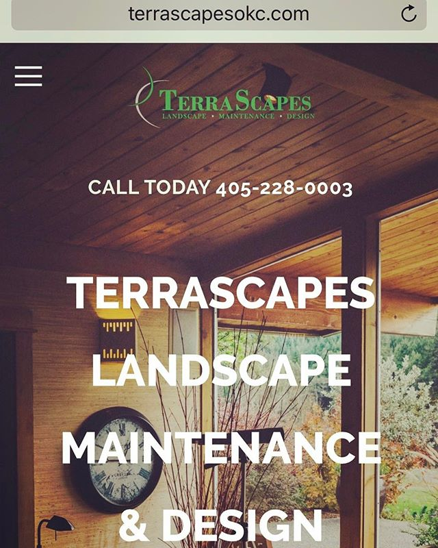 Website design created for TerraScapes, right here in OKC. Great company, great site!