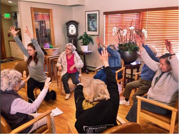 Teaching Chair Yoga at the Aspen Senior Center
