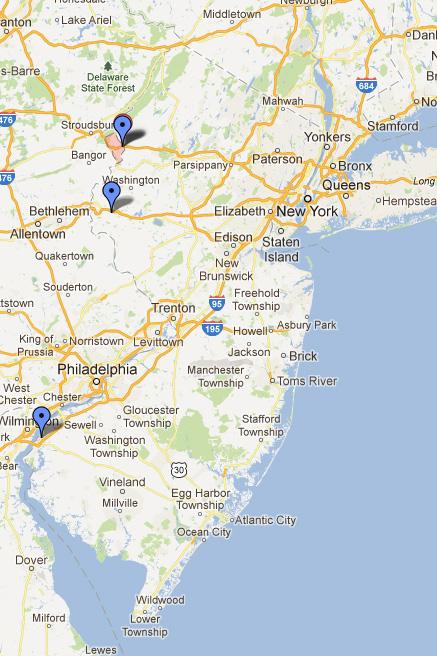 Service Area Map NJPassnet - Us weigh station map