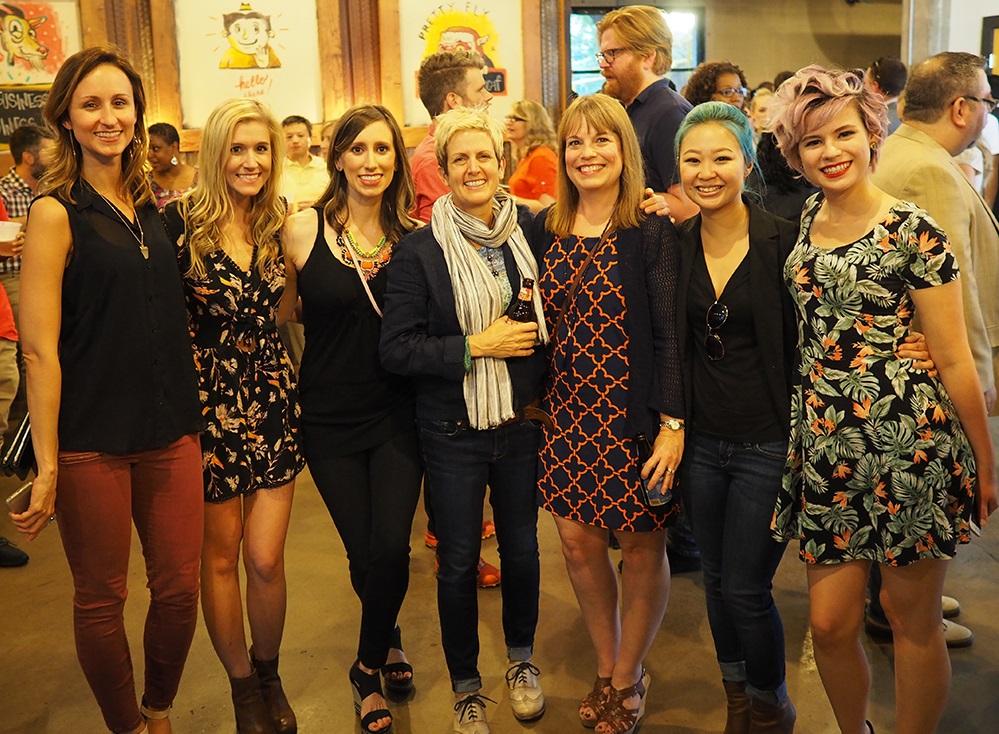 projekt202's Lindsey Norman, Anne Grundhoefer, Hayley Parham, Lori Lodwick, Karen King, Lan Nguyen and Chelsea Maxwell