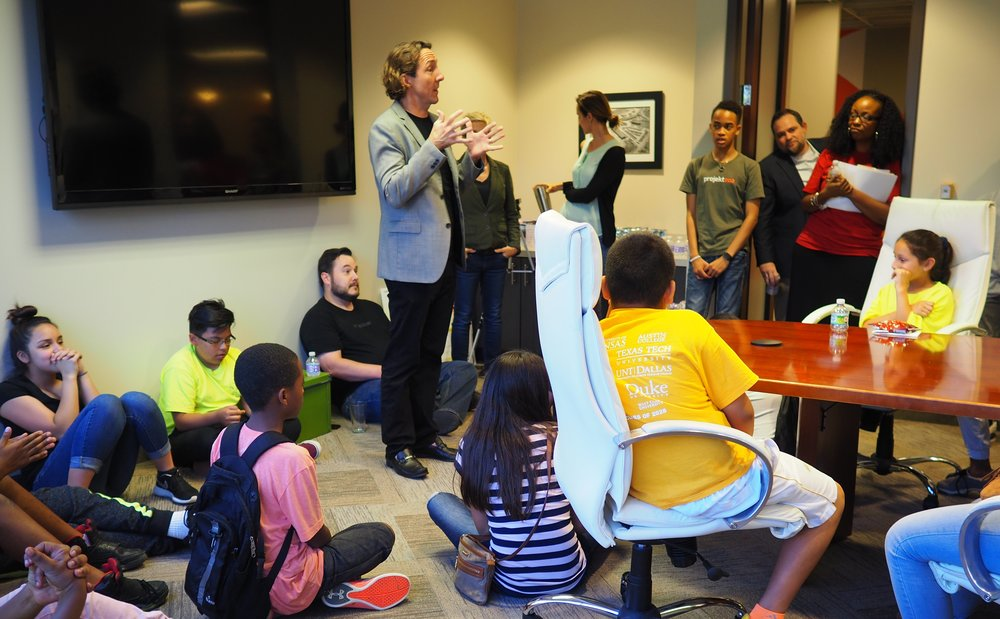 projekt202 Chairman and CEO David Lancashire speaks with Voice of Hope students.