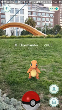 Real world meets the digital world with the Pokémon Go app.
