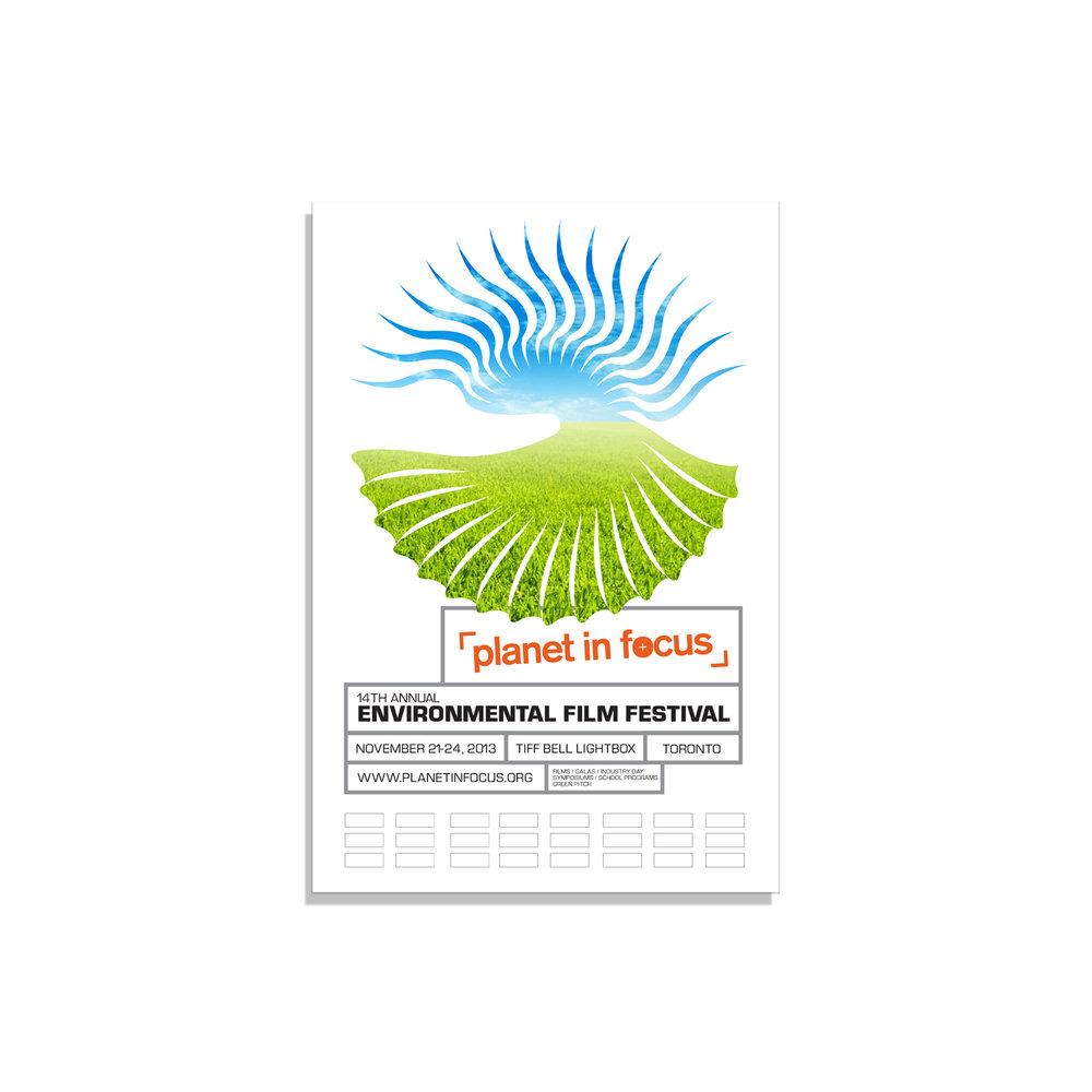 Alternate poster designs for Planet in Focus
