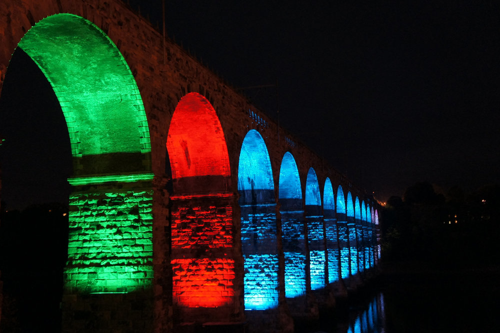 image © Karen Bryan // Royal Border Bridge Lights