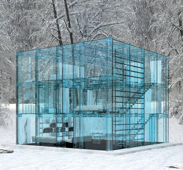 image ©  Wicker Paradise   // Glass House - Santambrogiomilano