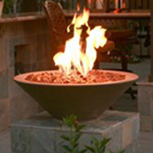 Asian Wok #1 FIre Bowl  Product by Concrete  Creations