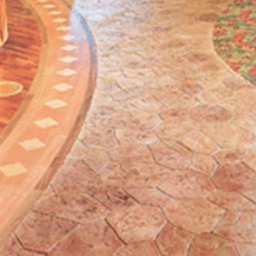 1/4 Inch Stamped Concrete  Product by Rhino Linings  Corporation