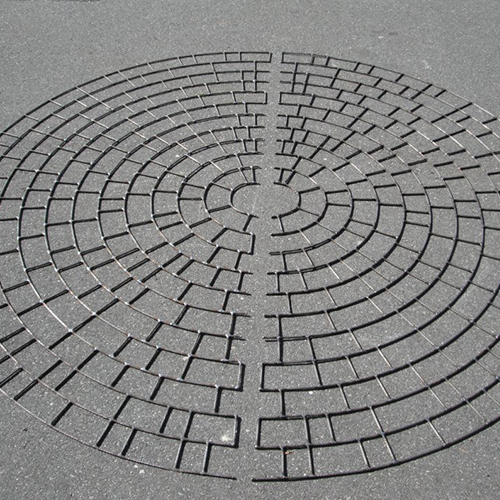 Stamped Asphalt: Circle  Product by Pattern Paving   Products