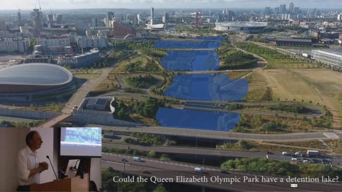 A proposal for a storm detention facility in the Queen Elizabeth II Olympic Park (by Tom Turner)
