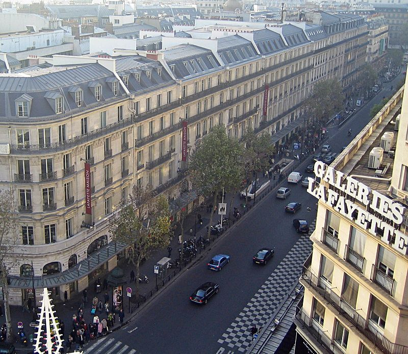 An Aerial View Of Mansard Rooftops Along Boulevard Haussmann In Paris via  Wikipedia