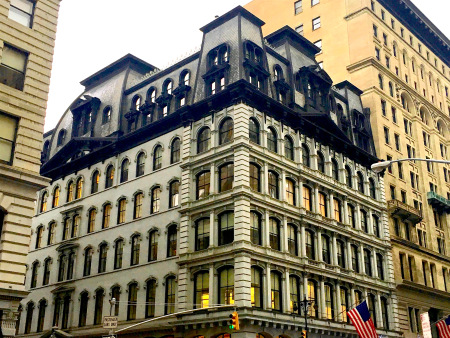 A Mansard Roof Building Located In Fifth Avenue And 19th Street via  Ephemeral New York