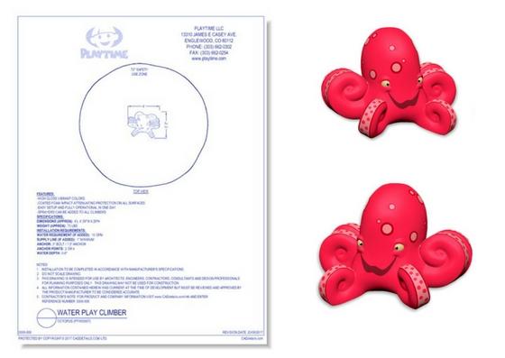 5008-008 Water Play Climber: Octopus