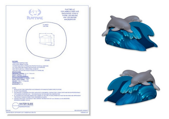 5008-042 Water Slide: Dolphin